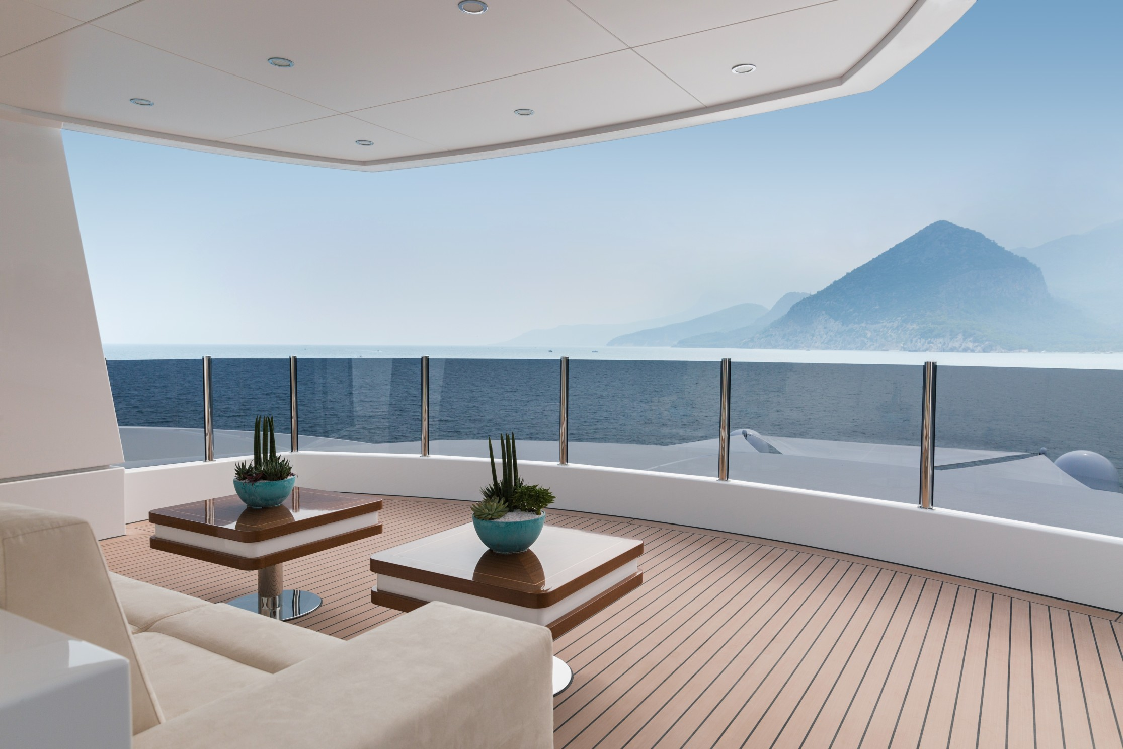 Luxury yacht decks