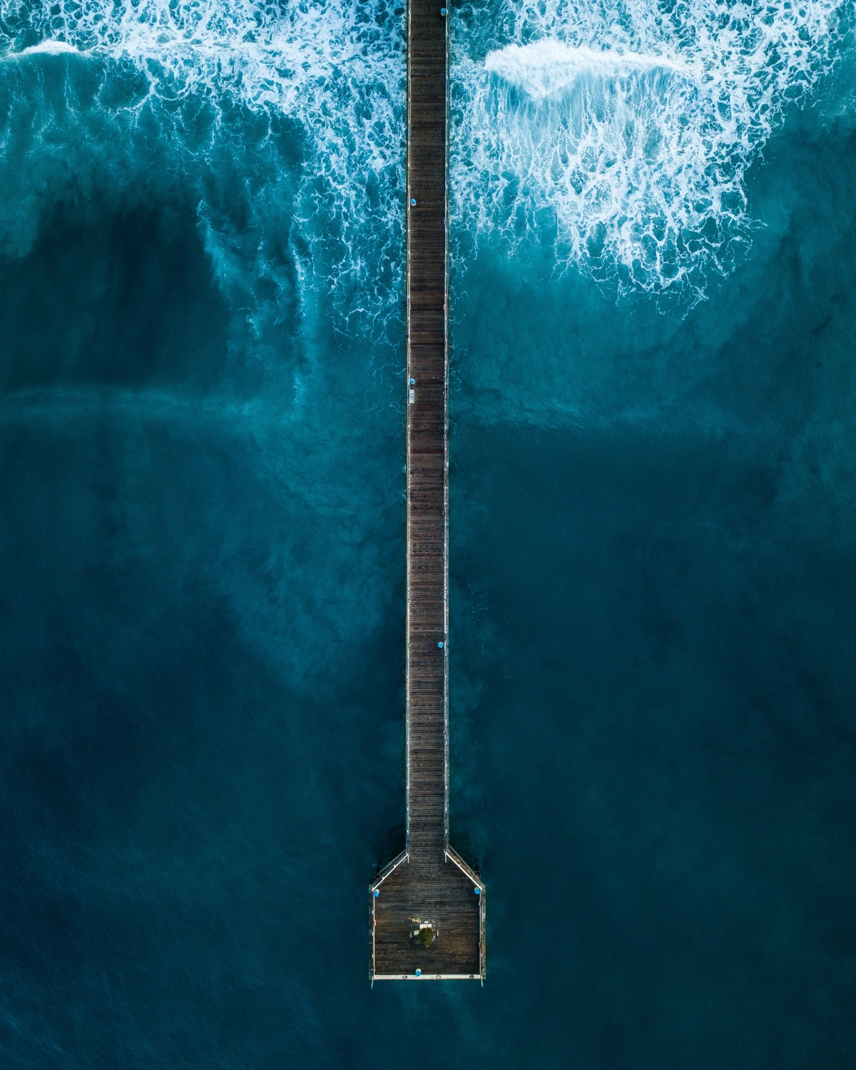 Birdseye view of a jetty